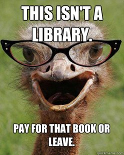 Judgmental Bookseller Ostrich